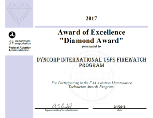 Firewatch diamond award